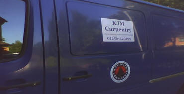 Picture of KJM Carpentry's van